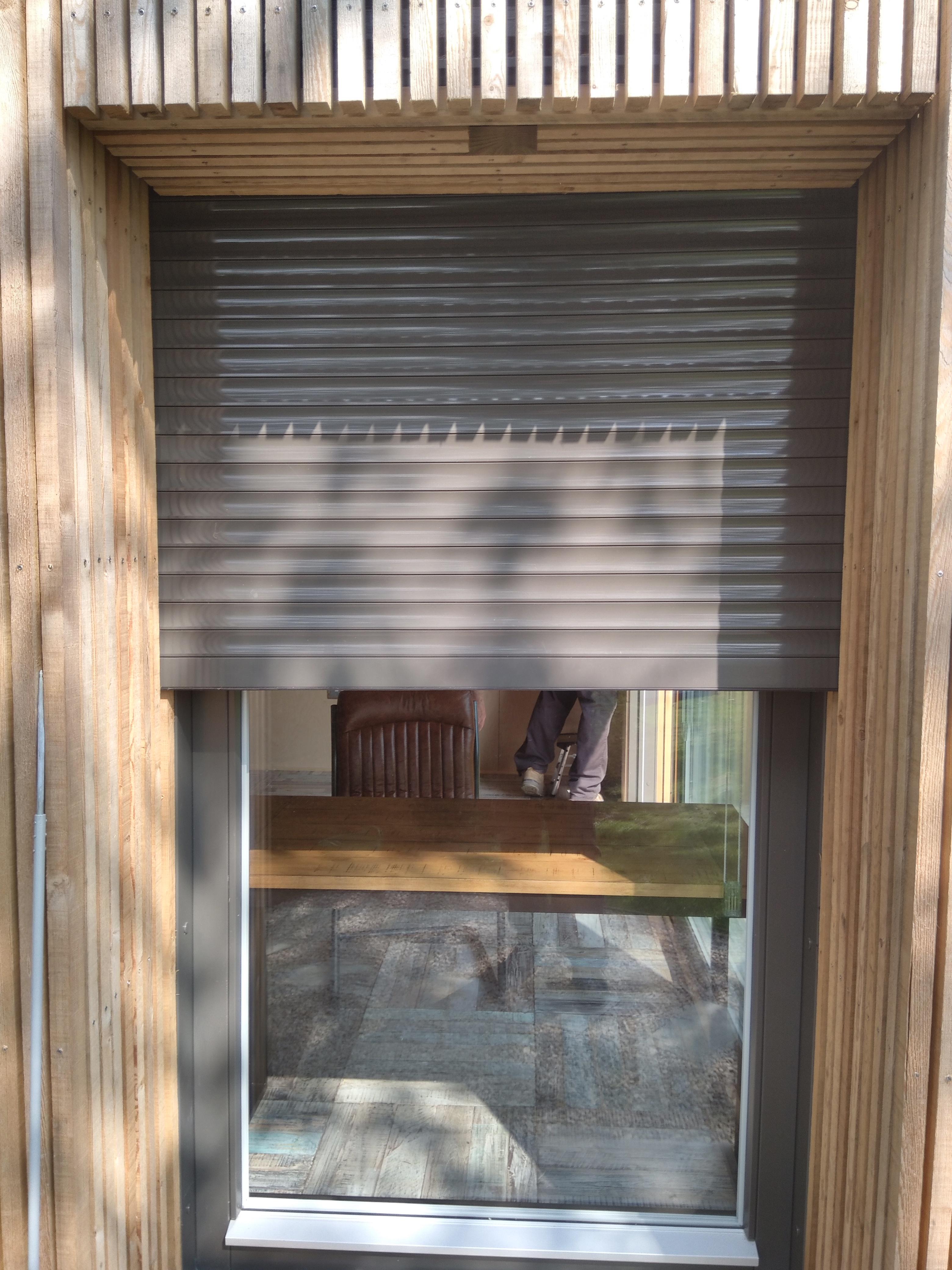 Roller shutter custom designed for an eco-friendy building