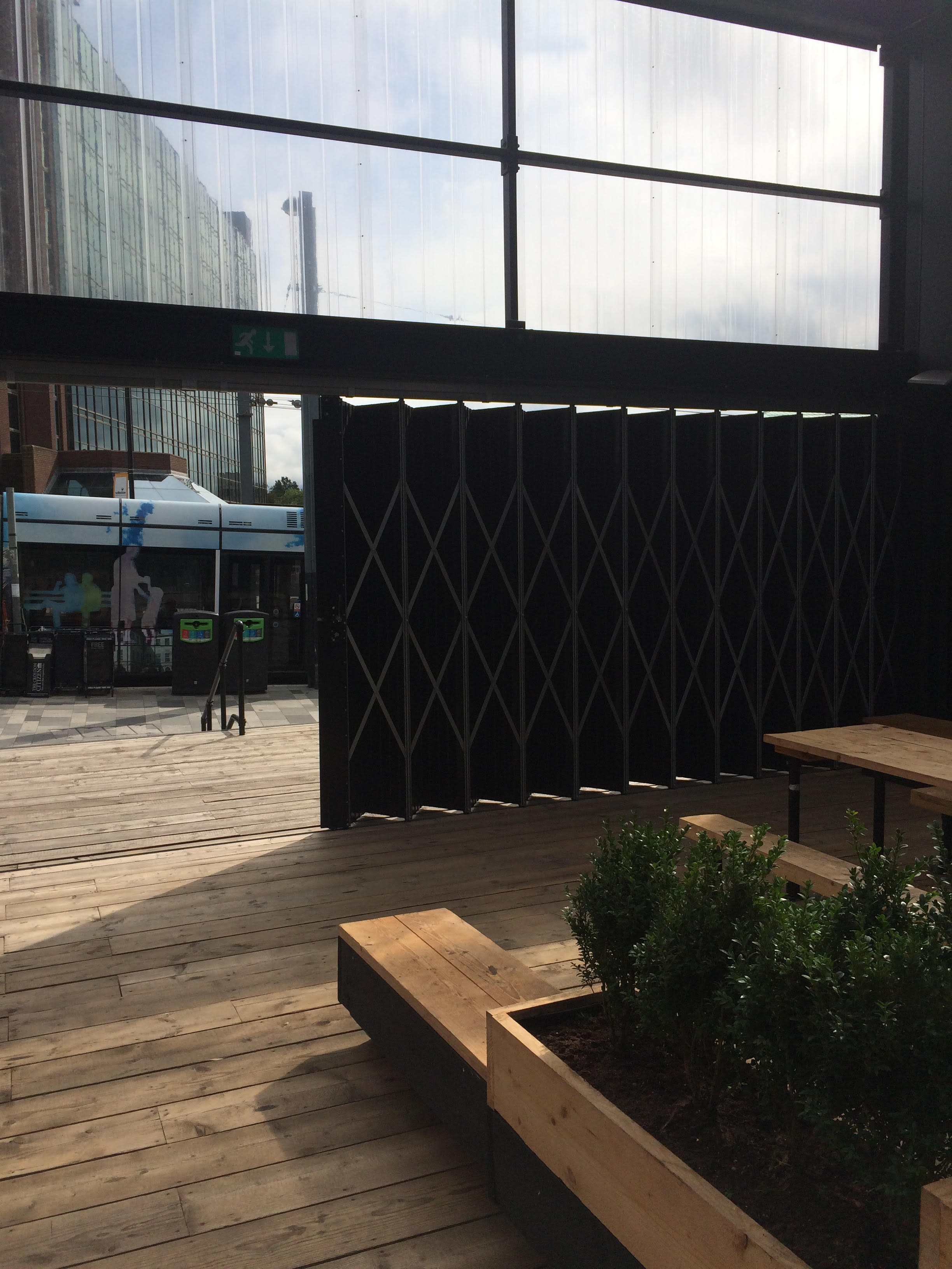 Black sliding folding doors