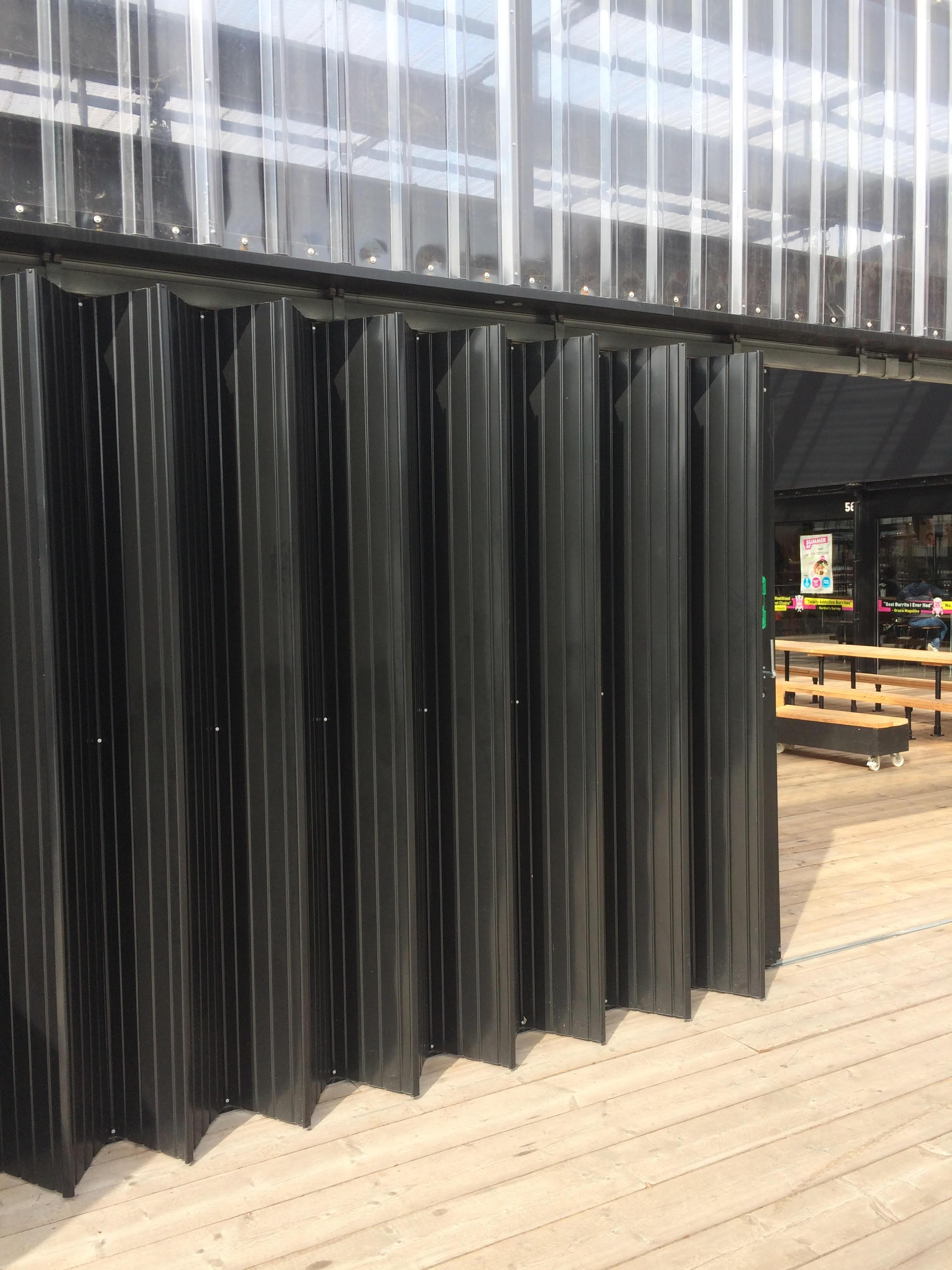 Black sliding shutter doors