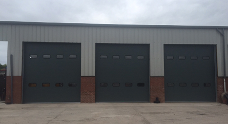 Sectional Doors with vision panels
