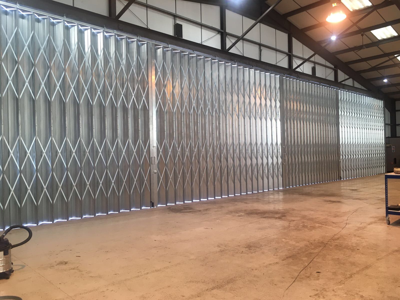 4 part sliding folding shutter inside