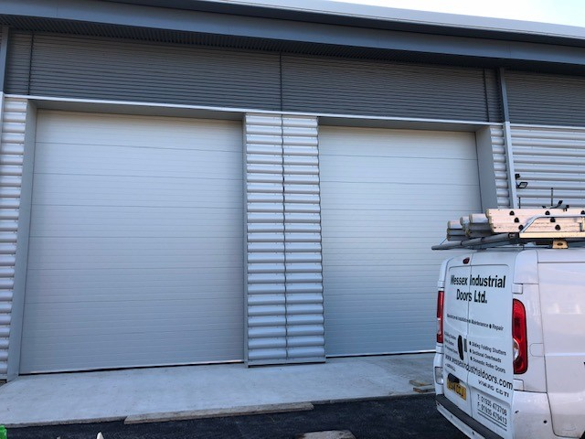 Goosewing grey sectional doors